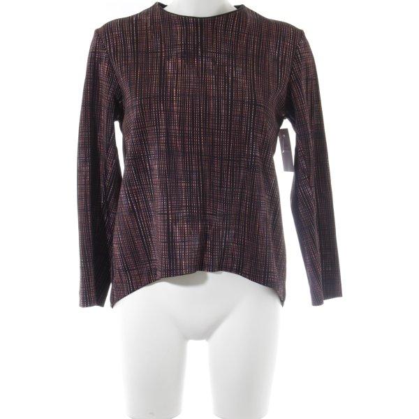 COS Langarm-Bluse schwarz-ziegelrot Streifenmuster schlichter Stil