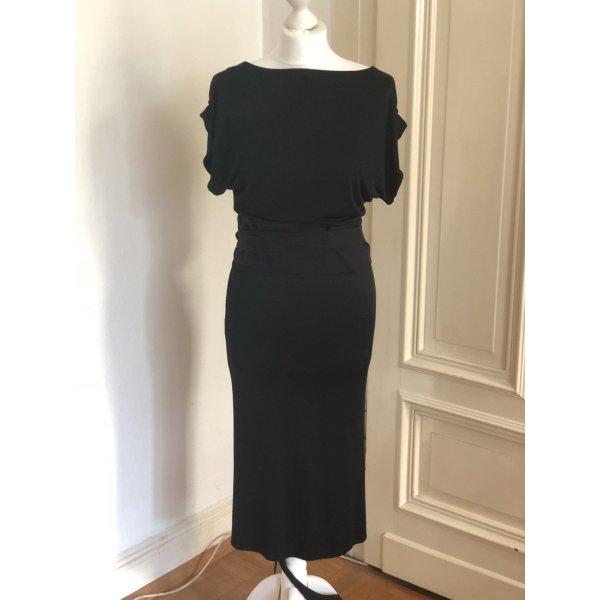Costume National Kleid Dress Schwarz Wickelkleid