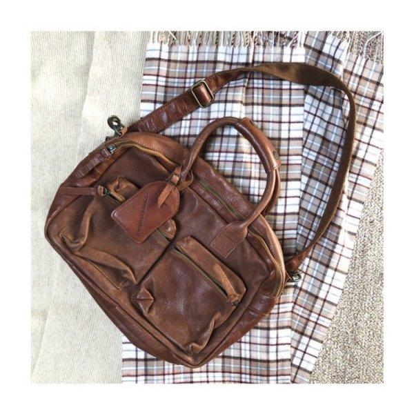 """Cowboysbag """"The College Bag"""" Tasche Leder Braun"""