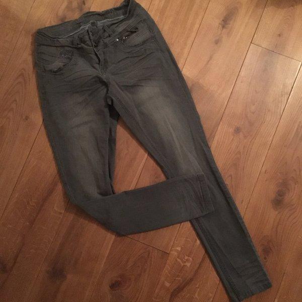 ❤️ CREAM ❤️ Jeans grau Stickerei Gr. 29 wNEU