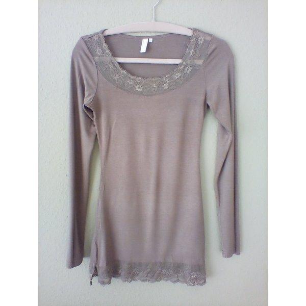 CREAM Longleeve Shirt Graubraun Gr. XS Neu
