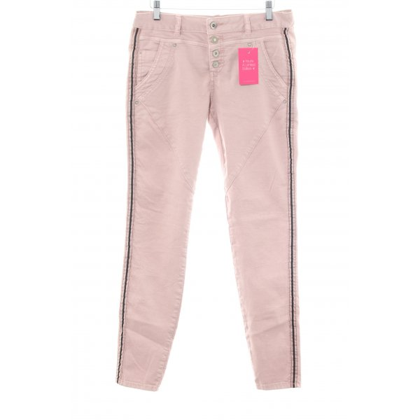 Cream Röhrenjeans pink-schwarz Casual-Look