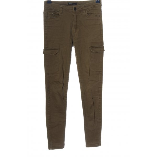 CROPP Skinny Jeans braun Casual-Look