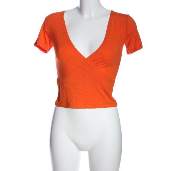 CROPP V-Ausschnitt-Shirt hellorange Casual-Look