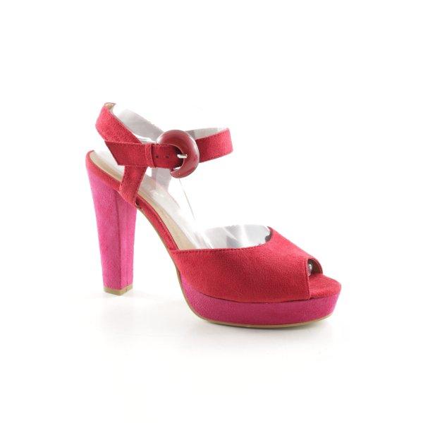 Cube Peeptoe Pumps pink-rot Elegant