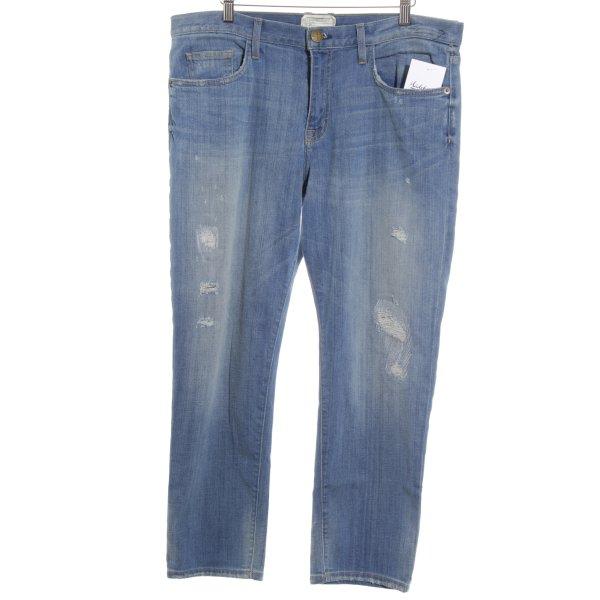 Current/elliott 7/8 Jeans stahlblau Boyfriend-Look