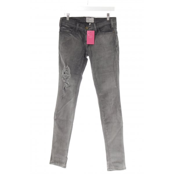 Current/elliott Röhrenjeans anthrazit-grau Destroy-Optik