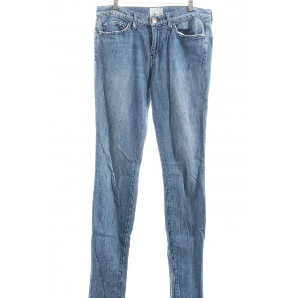 Current/elliott Röhrenjeans blau Street-Fashion-Look