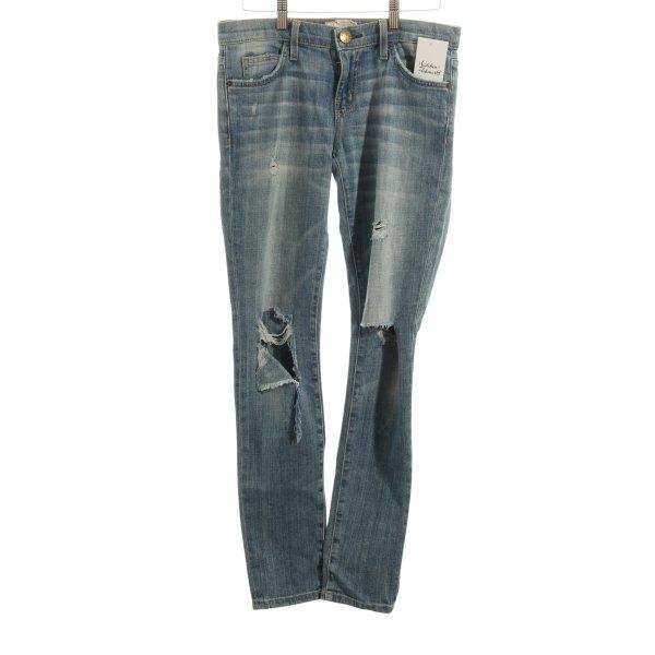 Current/elliott Skinny Jeans stahlblau Destroy-Optik