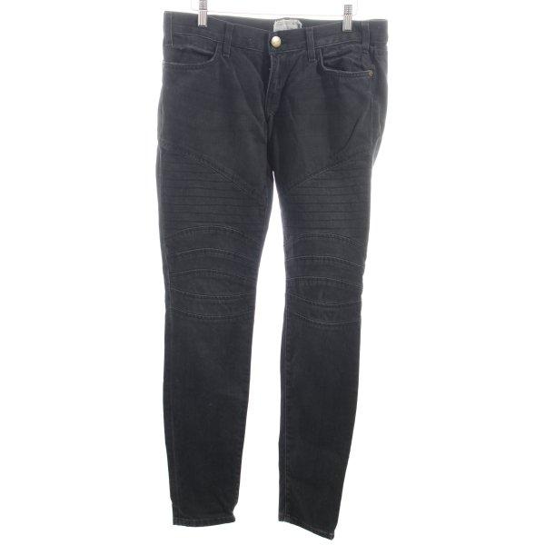 Current/elliott Straight-Leg Jeans anthrazit Street-Fashion-Look