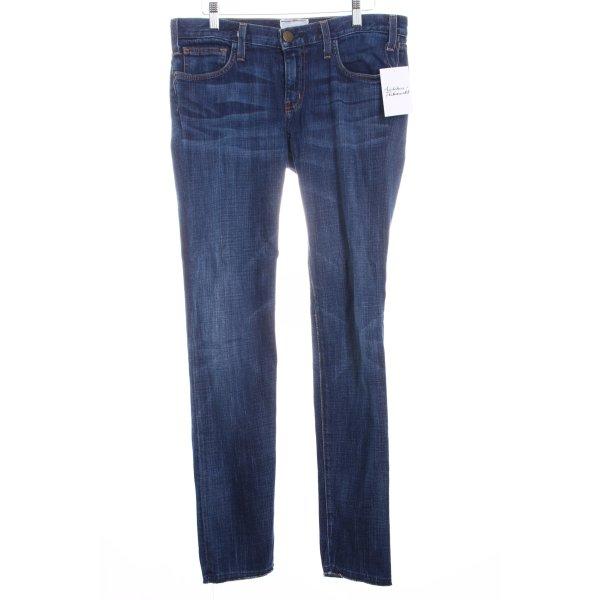 Current/elliott Straight-Leg Jeans dunkelblau Street-Fashion-Look