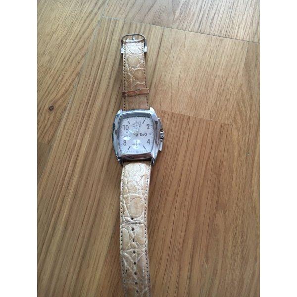 D&G Uhr Krokodilleder Armbanduhr