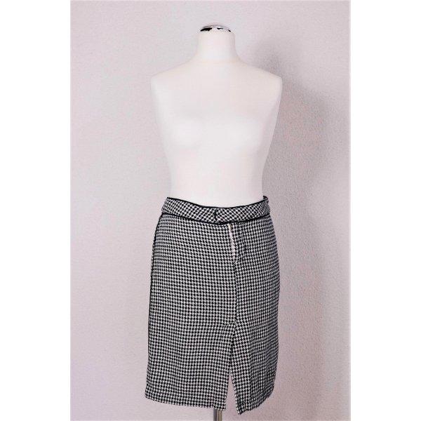 Da-Nang  Rock Pencil Skirt Bleistiftrock Pepita Hahnentritt schwarz weiß Gr. 36 S