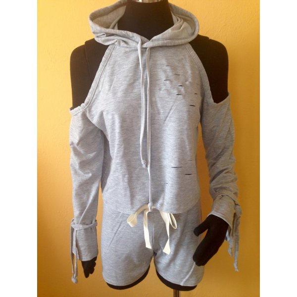 Damen 2tlg.Set Sweatshirt +Shorts Gr.S