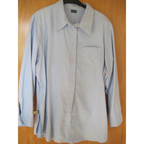 Damen Bluse / Damenbluse, hellblau, Gr. 44