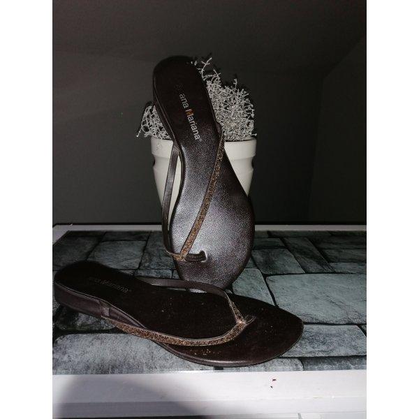 ana Mariana Flip flop sandalen brons-donkerbruin