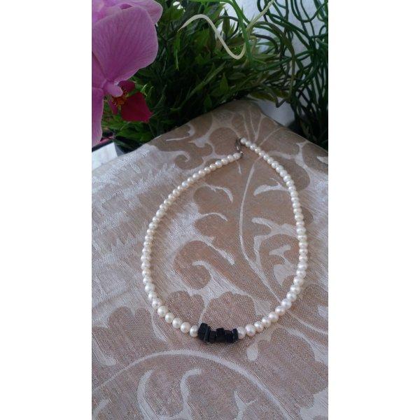 Damen Handmade Perlenkette mit Onyx Edelsteine