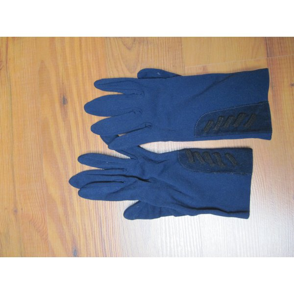 Damen Handschuhe / Damenhandschuhe / Glacé Handschuhe, blau, Gr. A (7)