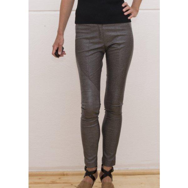 Damen Hose, Skinny-Hose, Gr. DE 34 / XS // Lederoptik / NEU/ Anna Rita N