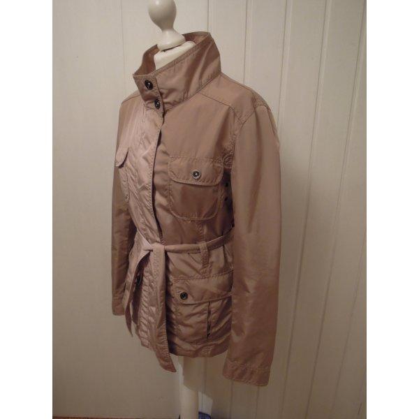 Damen Jacke Anorak Mantel Trenchcoat Parka Übergangsjacke mit Gürtel beige S. Oliver Gr. 38 Klassiker