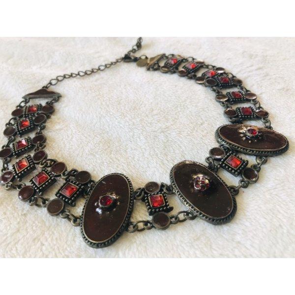 Damen Kropfband Halskette Rot