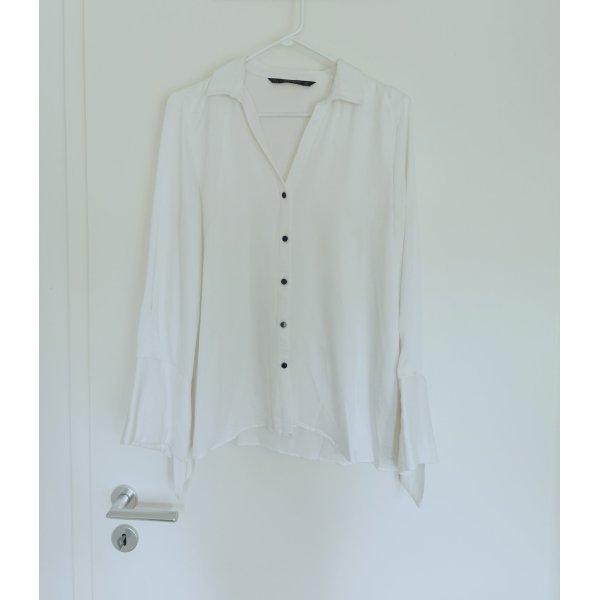 Damen langärmelige Satin Business geschäftliche Bluse L 40
