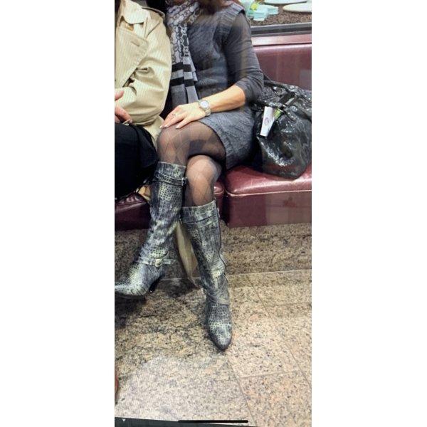 Damen Leder Stiefel