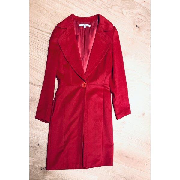 Damen Mantel v GR Ferré Bordeaux Seide Gr. 36/S
