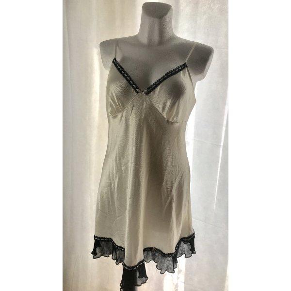Damen Negligee Nachthemd Creme Weiß L