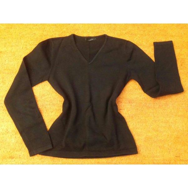 Damen Pullover V Ausschnitt leicht Gr.S in Schwarz von b.young