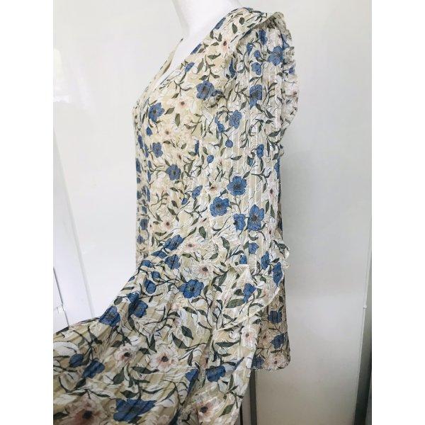 Damen Rüschen Bluse Blumen Top XL Neu