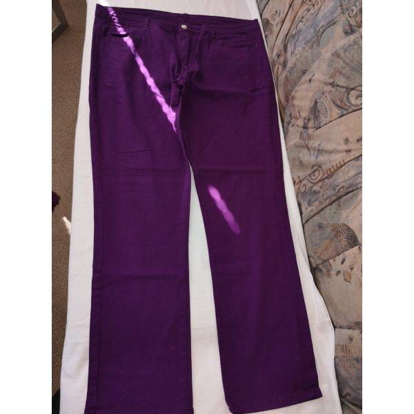 Jet-Line Jeans stretch violet tissu mixte