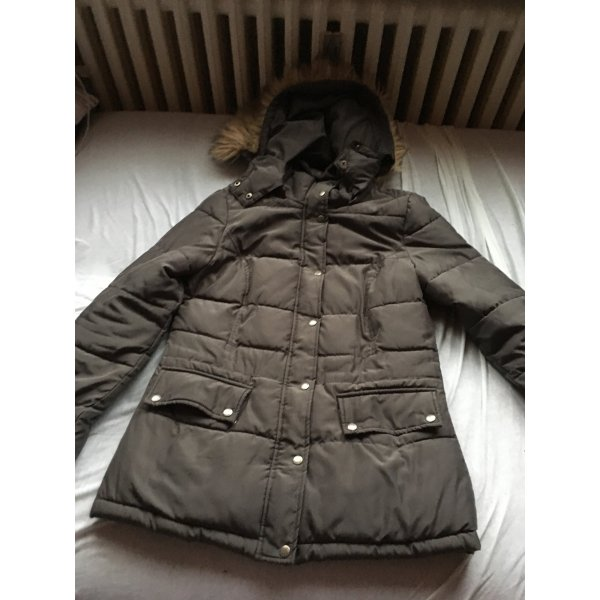 Damen Winter Jacke dunkel grau