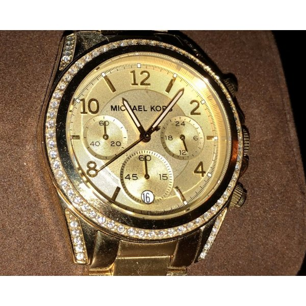 DAMENUHR Michael Kors Original V1751012 GOLD NEU mit Papiere+Box /BLING BLING