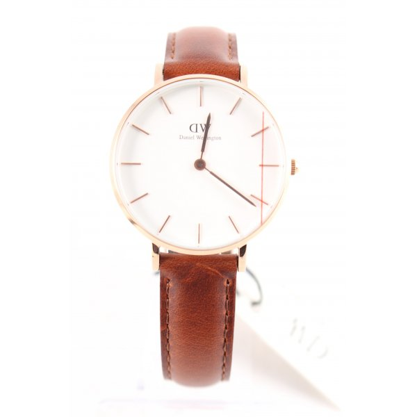 Daniel Wellington Uhr mit Lederarmband mehrfarbig klassischer Stil