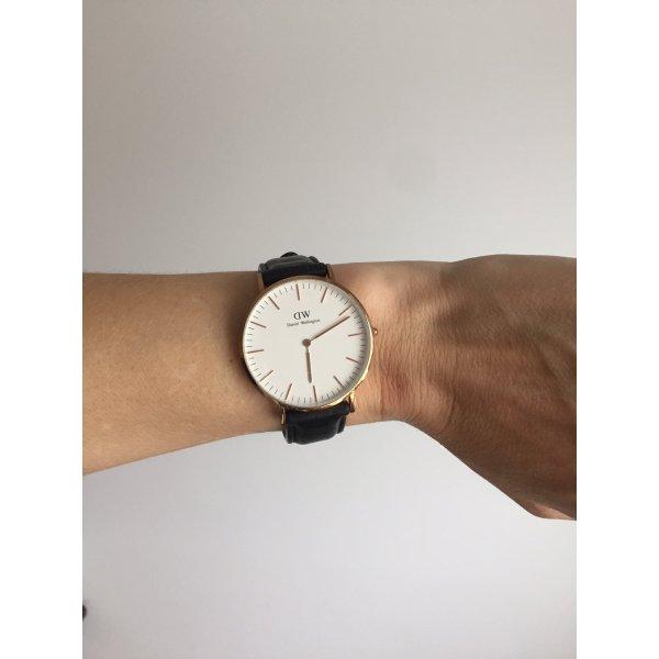 Daniel Wellington Uhr, Rose gold & schwarzes Armband