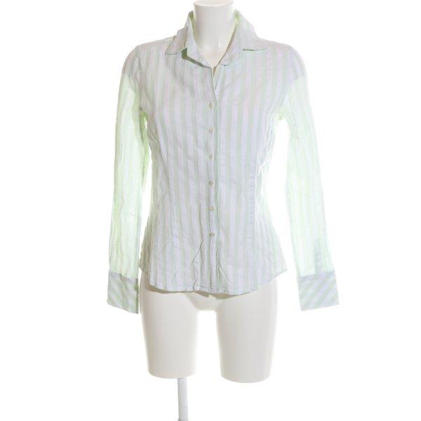Daniels & Korff Hemd-Bluse grün-weiß Streifenmuster Business-Look