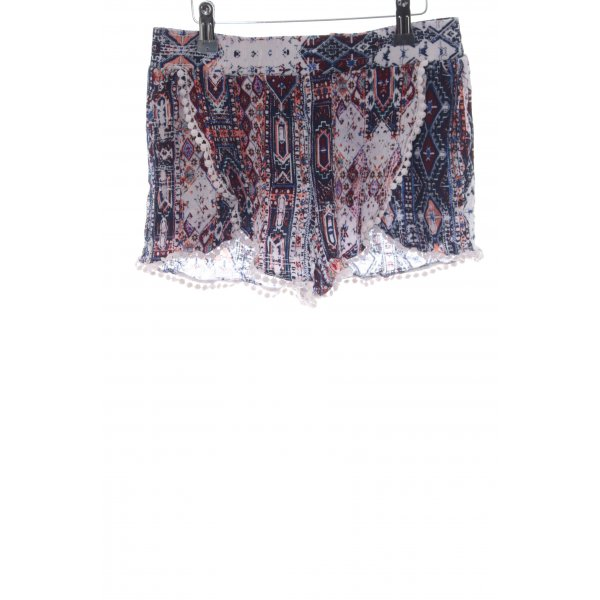Daphnea Hot Pants abstraktes Muster Casual-Look