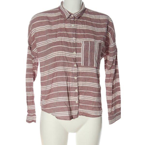 Defacto Koszula z długim rękawem czerwony-biały Wzór w paski W stylu casual