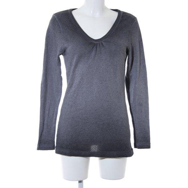 Deichgraf V-Ausschnitt-Pullover grau Casual-Look