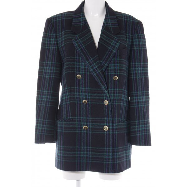 Delmod Wool Blazer check pattern casual look
