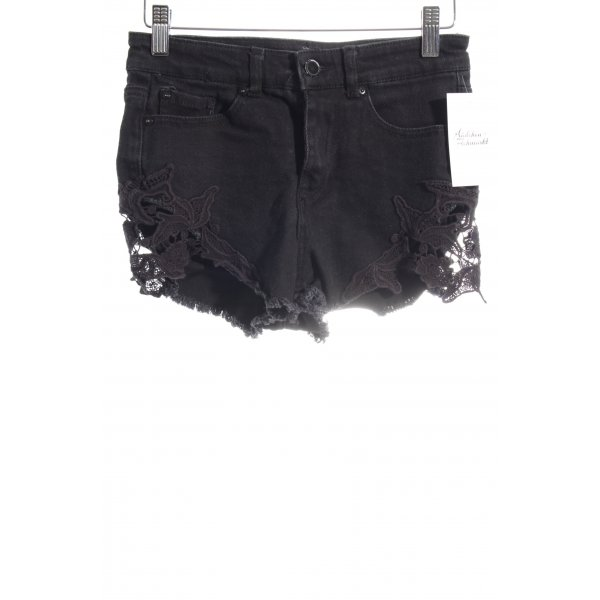 Denim Co. Shorts schwarz Beach-Look