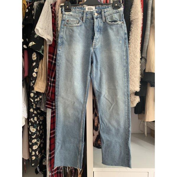 Denim Highwaisted Jeans von Zara