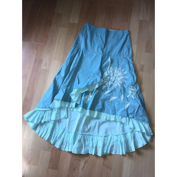 Derhy Falda con volantes azul claro-turquesa