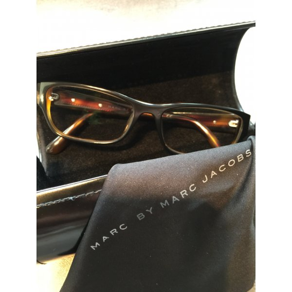 Design Brille Brillengestell Marc by Marc Jacobs braun Muster Kunststoff Case