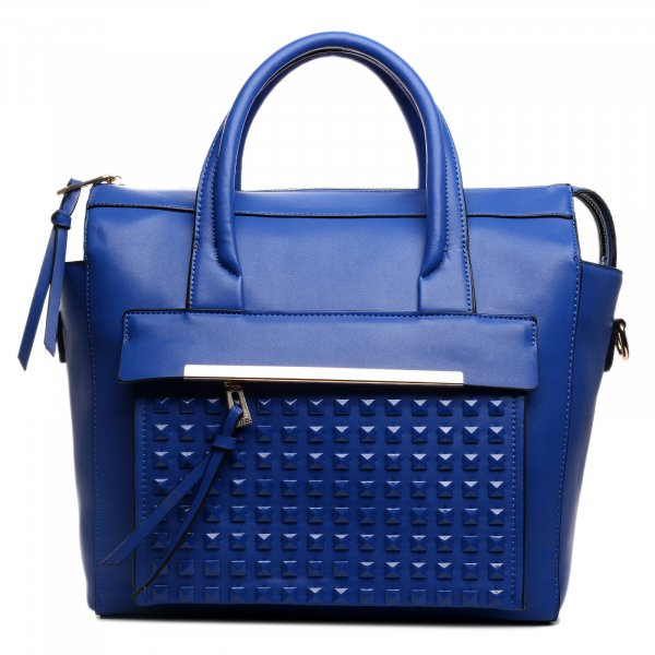 Carry Bag blue imitation leather