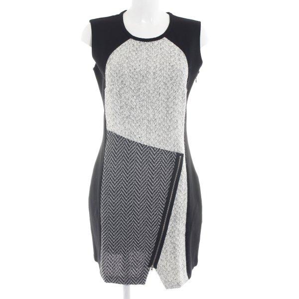 Desigual A-Linien Kleid schwarz-wollweiß meliert Business-Look
