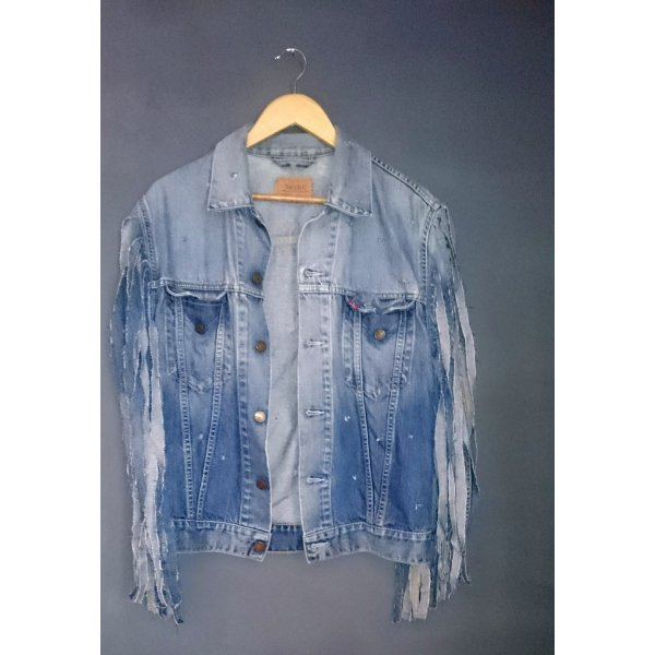 destroyed look jeansjacke levis gr. L unikat