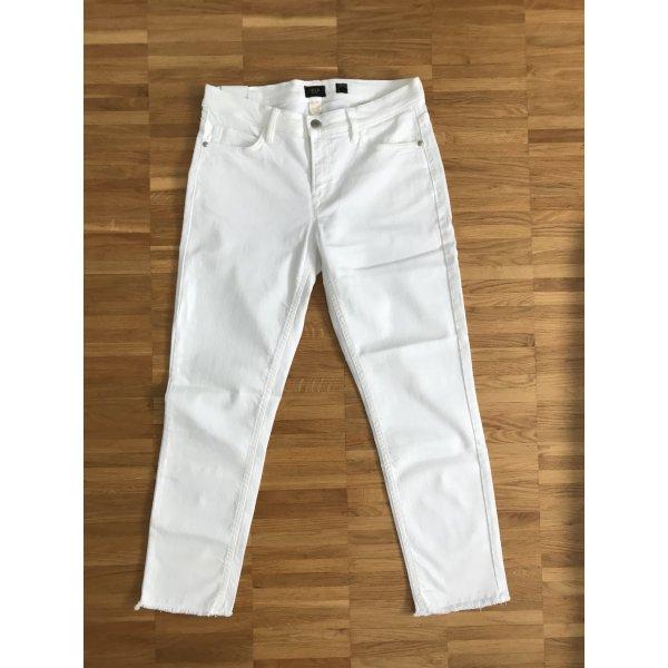 Deyk Jeans a 7/8 bianco