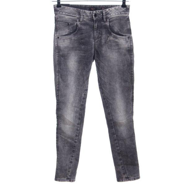 Deyk Slim Jeans hellgrau Farbverlauf Casual-Look